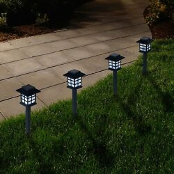 Outdoor Lantern Solar Landscaping Lights Set of 6 by Pure Garden $29.99