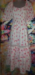 Love Shack Fancy For Target Cosette Smocked Puff Sleeve Floral Dress $35.00