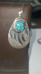 Southwestern Sterling Silver Bear Paw Pendent $44.00