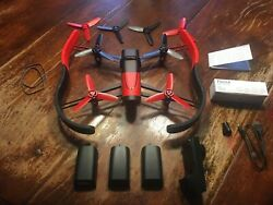 PARROT BEBOP QUADCOPTER DRONE WITH CAMERA RED FOUR BATTERIES $176.00