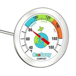 Cootway Compost Thermometer 20 Inch Stem Backyard Compost Thermometer 2 Inc... $28.45