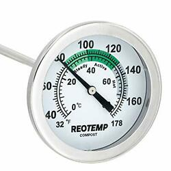 REOTEMP Soil amp; Compost Thermometer 12 Inch Stem with PDF Composting Guide 32 ... $19.61