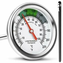 Long Stem Compost Soil Thermometer Fast Response Stainless Steel 16 Inch ... $33.79