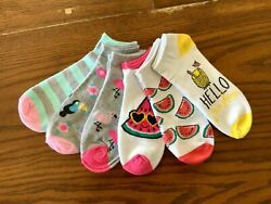 NEW Womens Socks Low Cut Ankle Lot 6 Pack Pair No Show Summer Pink Set Size 5 10 $6.99