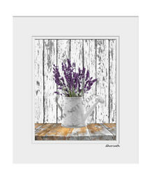 Farmhouse Country Kitchen Home Decor Floral Home Decor Matted Artwork Picture $19.99