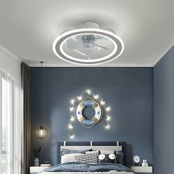 18quot; Ceiling Fan Light Invisible Blade LED With Remote Control $63.99