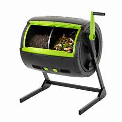 RSI MAZE 65 Gal. Two Stage Tumbling Composter Black Green $212.85