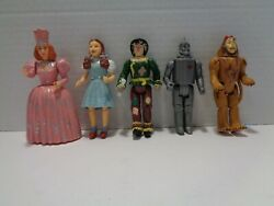 5 Vintage Wizard of Oz Jointed Action Figures 1988 MGM Turner $19.99