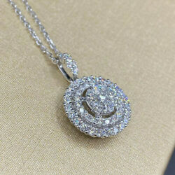 Women Jewelry Cubic Zirconia 925 Silver Necklace Pendants Wedding Party Gifts C $1.99
