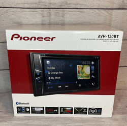 New Pioneer AVH 120BT 6.2 in Double Din Bluetooth Receiver Stereo DVD CD USB AUX $239.99