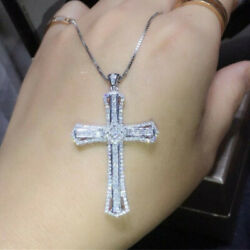 Gorgeous Cross Jewelry Cubic Zirconia 925 Silver Necklaces Pendants Party Gifts C $1.99