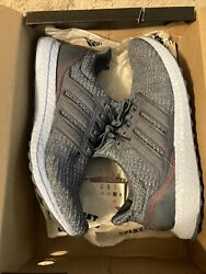 Adidas Ultra Boost m Size 12 Mens with Box Tech Ink Glow Blue Navy Red Light $160.00