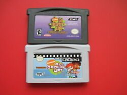 Game Boy Advance Lot of 2 All Grown Up amp; Video Vol 1 Nickelodeon Games $9.97