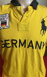 Polo Ralph Lauren Mens XL Shirt Custom Fit Big Pony Germany Yellow Embroidered $29.97