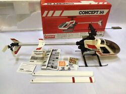Vintage Kyosho show concert 30 nitro helicopter with servos amp; Gyro OS 32 OS $999.99