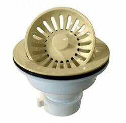 Westbrass Push Pull Style Large Kitchen Sink Basket Strainer Almond D2143P 51 $37.58