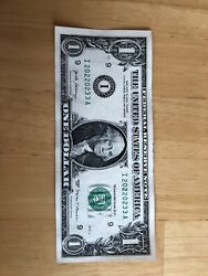 Fancy 2017 $1 Bill Note TRINARY 4 2s 2 3s 2 0sI 20220233 A. FREE SHIPPING $7.00