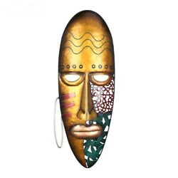 Wall Decor Hanging Wall Art Metal Sculpture African Face Mask Home Indoor Luxury $54.99