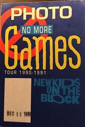 New Kids On The Block Games 1990 91 backstage PHOTO pass Dec 111990 $9.95