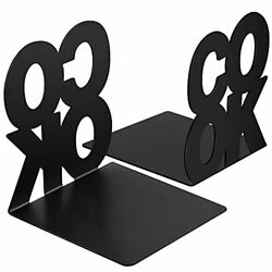 Black Cookbook Bookends 3.9 x 3.9 x 3.9 inch Kitchen Metal Book Ends with Non... $22.07
