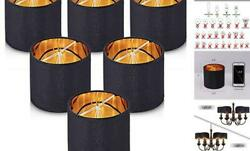 LampshadesSmall Chandelier Shades ONLY for Candle BulbsClip on Black Gold $67.22