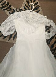 Vintage wedding dress and veil with Stains* $39.00