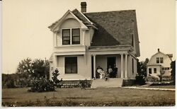 HOME amp; FAMILY antique picture postcard photo cyko rppc $2.25