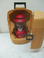 Vintage 1970 Red Coleman Lantern with yellow Carry Case $200.00