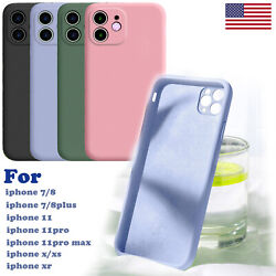 Soft Liquid Silicone Case Cover For iPhone SE 7 8 Plus XR X XS 11 Pro Max $4.99
