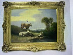Antique oil painting on canvas. Signed J. Chatelain. $450.00