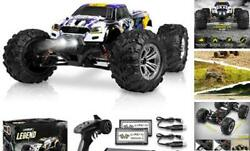 1:10 Scale Large RC Cars 48 kmh Speed Boys Remote Control Purple Yellow $235.06