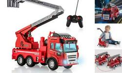 Fire Truck Toy Remote Control with Lights and Sounds Extending Rescue Ladder $50.24