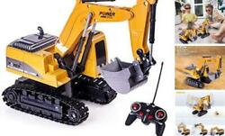 Excavator Toy Remote Control RC Construction Vehicles Car Toys for 4 5 Yellow $37.16