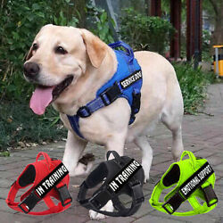 Service Dog Harness Reflective amp; 2 Free Patches Pet Puppy Emotional Support Vest $12.99