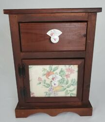 Vintage Nightstand Bedside Cabinet End Table Farmhouse Shabby $131.05