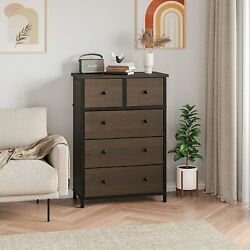 5 Drawer Dresser Clothing Storage Chest Beside Wall Bedroom Save Space Indoor $85.99