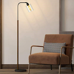 OYEARS Floor Lamps for Living Room Industrial Floor lamp for Bedroom with Glass $37.33