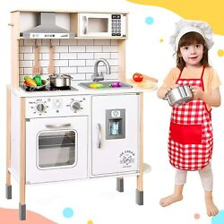 Play Kitchen for Kids 18 Pcs Toy Food amp; Cookware Accessories Playset $139.99