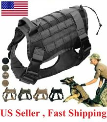 Tactical Dog Harness with Handle No pull Large Military Dog Vest Working Dog US $18.99