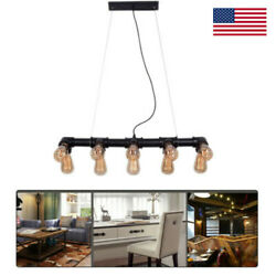 Retro Industrial Water Pipe Chandelier Ceiling Lamp Pendant Light Fixture USA $46.55