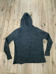 GAP Sweater SMALL with hood Super soft cozy Womens Gray $12.99