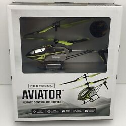 NEW Protocol Aviator Indoor Remote Control RC Helicopter with Gyro Stabilization $20.95