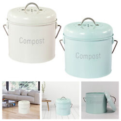 Compost Bin Countertop Farmhouse with Carrying Handle Rust Proof Easy Clean $39.16