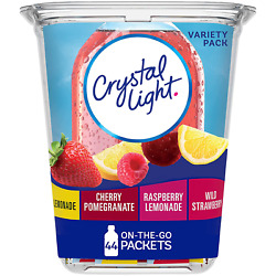 Crystal Light Variety Pack Drink Mix 44 On the Go Packets $9.25