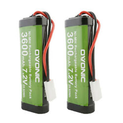 2X Ovonic 7.2V 3600mAh RC Battery with Tamiya Plug for RC Car RC Truck Kyosho $21.99