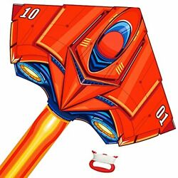 Tcvents Large Plane Kite Delta Kites for Kids Adults Fighter Kite Easy to Fly... $25.73