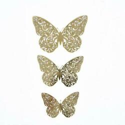 12 Gold 3D Butterfly Wall Decals Removable DIY Stickers Party Events Decorations $5.56