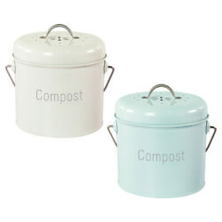 Kitchen Compost Bin Indoor Compost Bucket with Lid with Carrying Handle $39.16