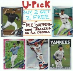 2021 Topps Chrome MLB Base RC Refractors Parallels Buy 2 Get 2 FREE Ship FREE $1.29