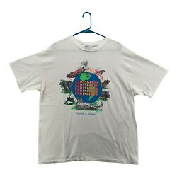 Vintage Living Museum T Shirt White XL Earth Day $27.99